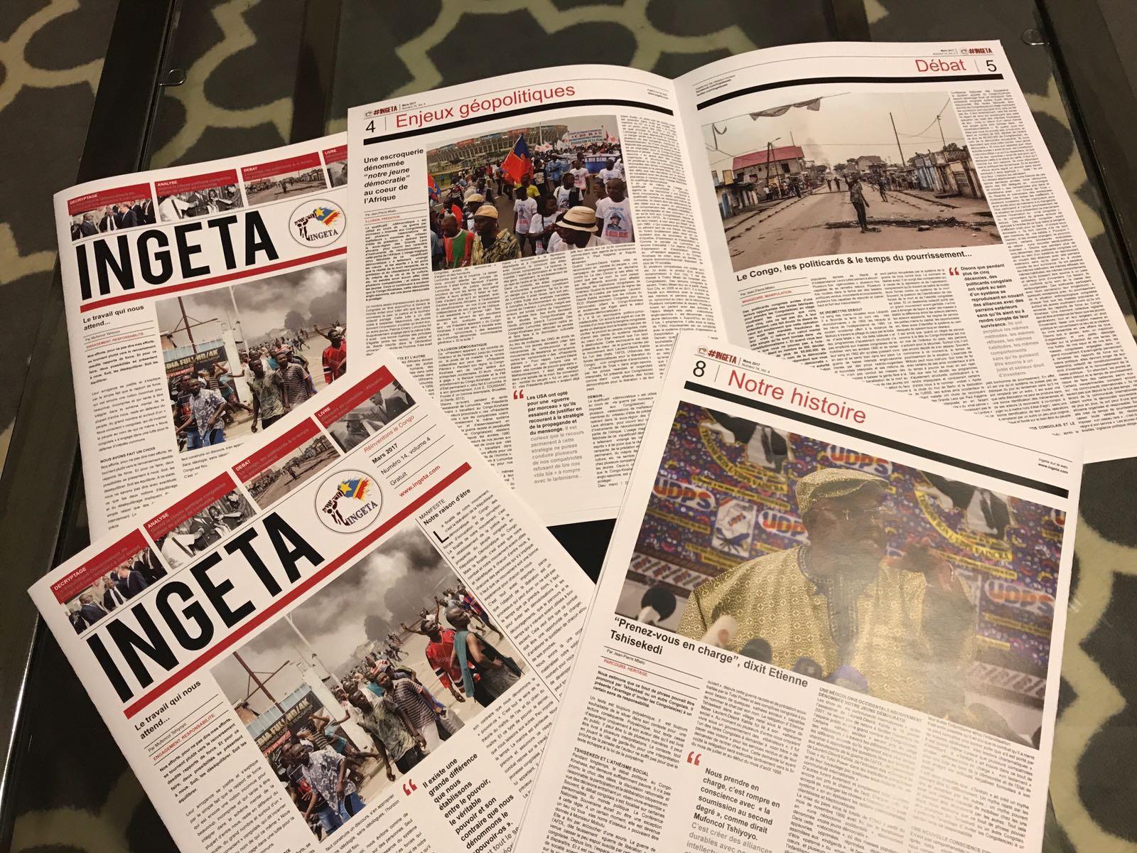 Le Journal Ingeta disponible en version papier